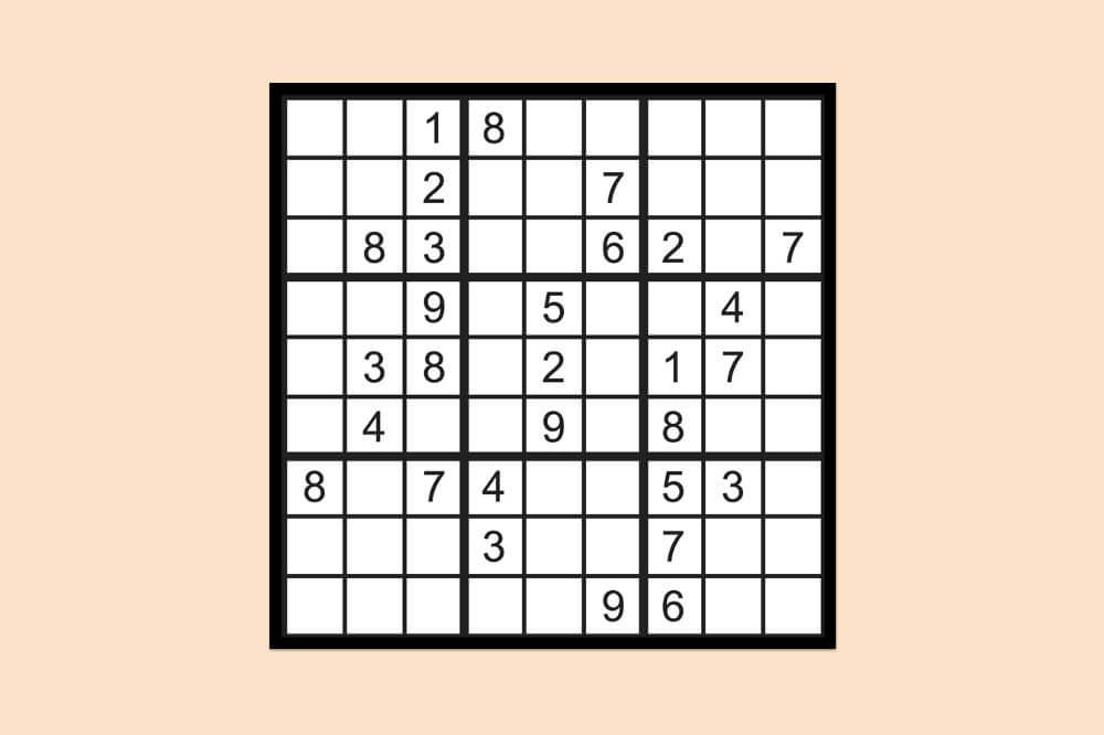 Sudoku Raetsel Einfach 1
