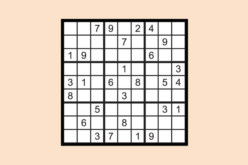 Sudoku Raetsel Einfach 2