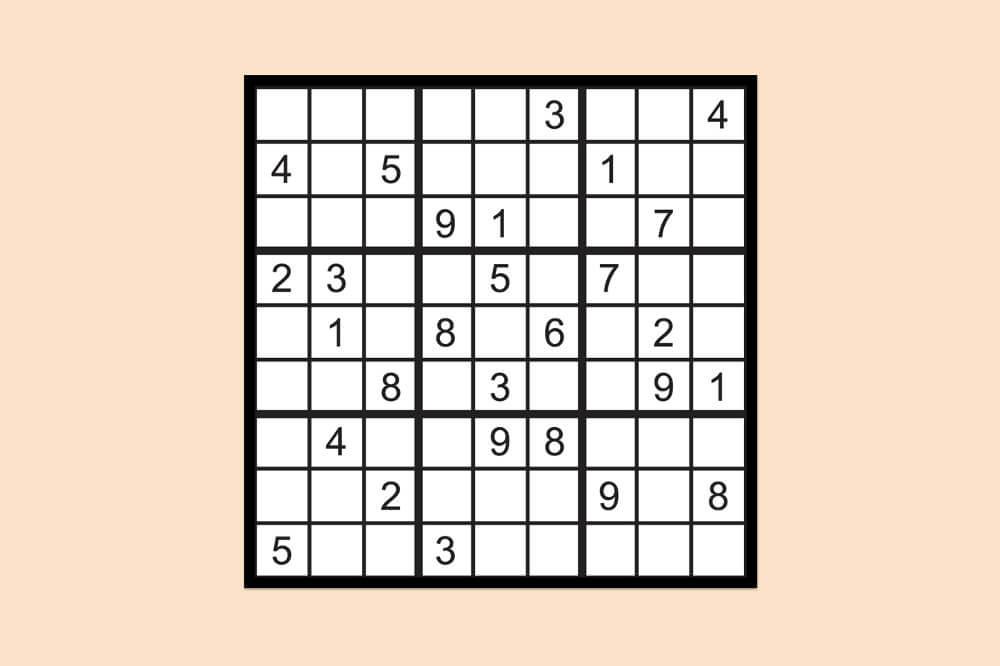 Sudoku Raetsel Einfach 3