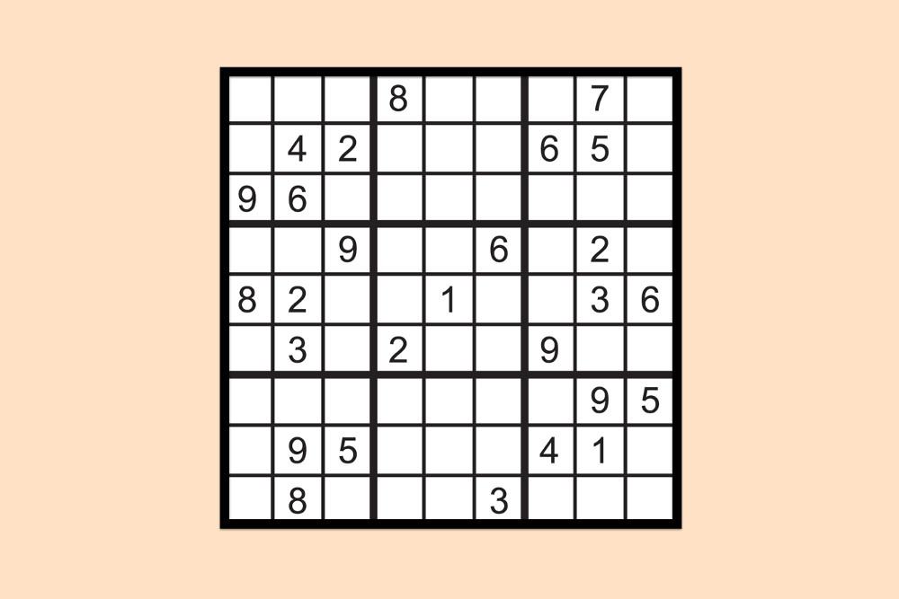 Sudoku Raetsel Mittel 2
