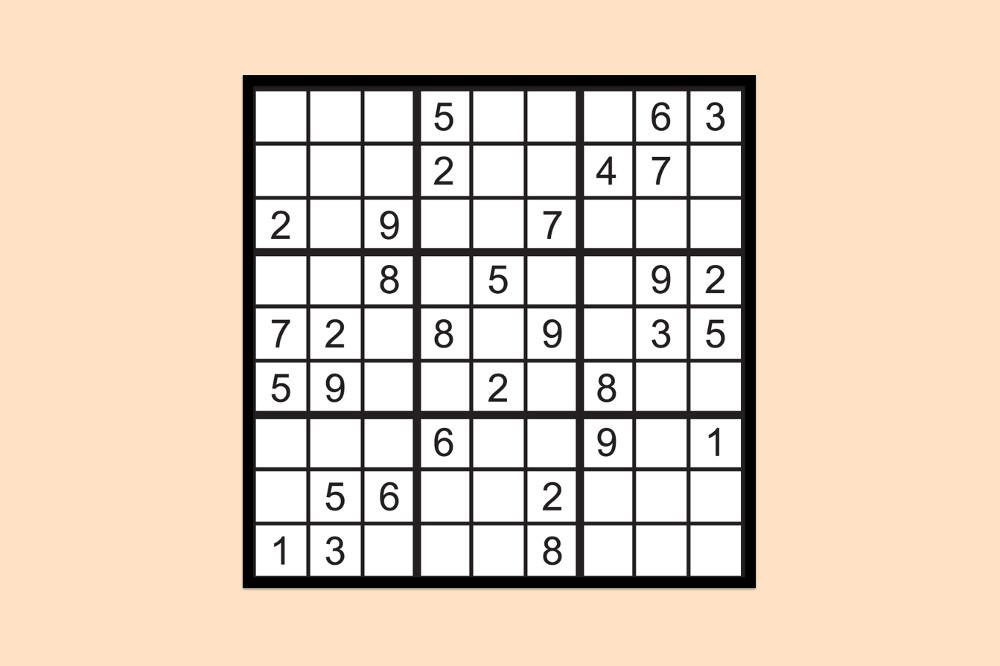 Sudoku Raetsel Mittel 3
