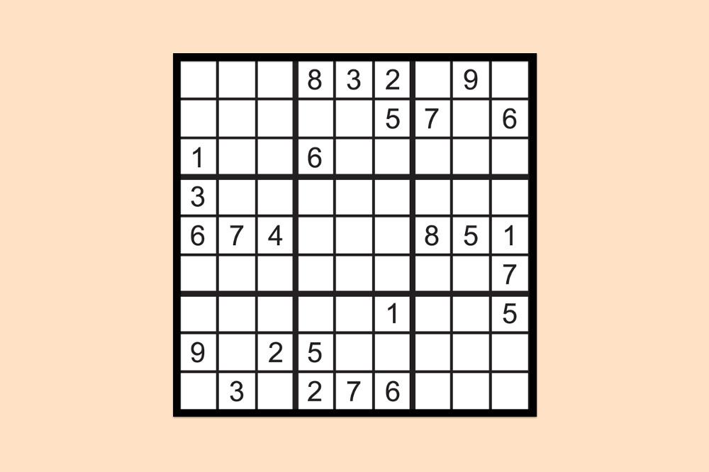 Sudoku Raetsel Mittel 4