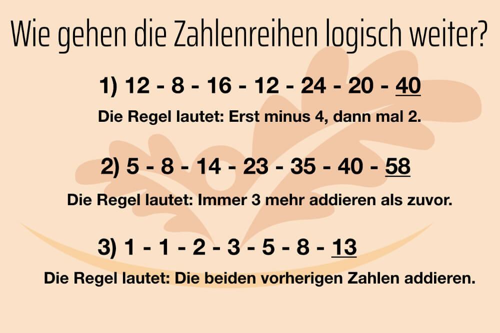Gedaechtnistraining Uebungen Im Alter Logik Zahlen Aufloesung