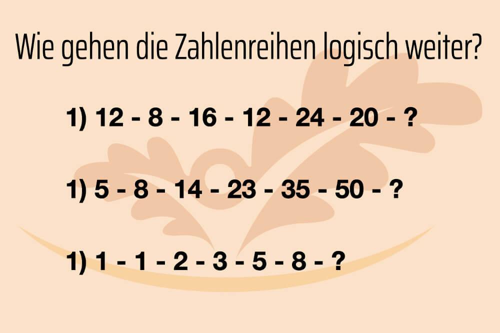 Gedaechtnistraining Uebungen Im Alter Zahlen Logik Test