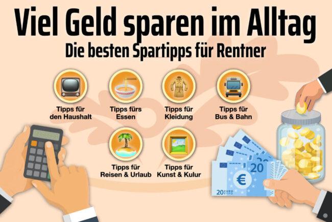 Geld sparen: Über 60 Tipps und Tricks für Rentner