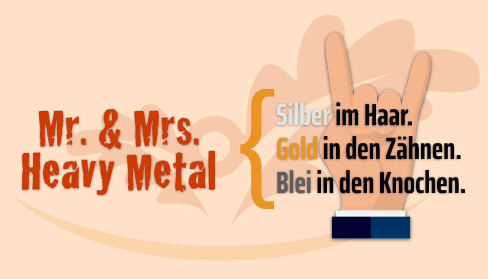 Silver Worker Best Ager Heavy Metal Spruch Grafik