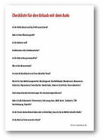 Checkliste Urlaub pdf Muster Download Vorlage Abhaken