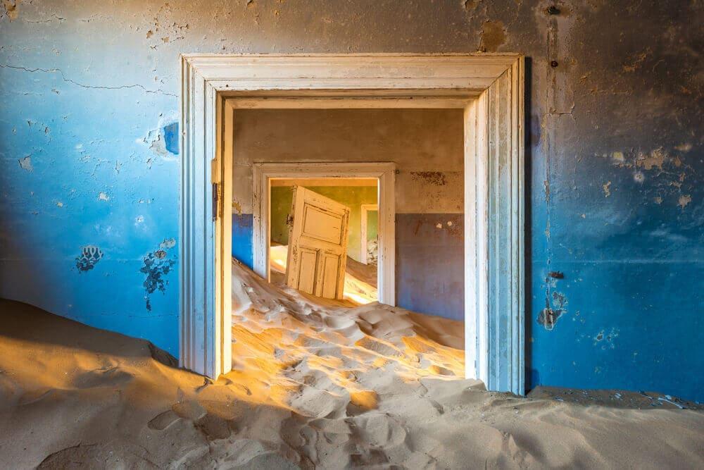 Namibia-Reiseziel-Kolmannskuppe-Kolmanskop