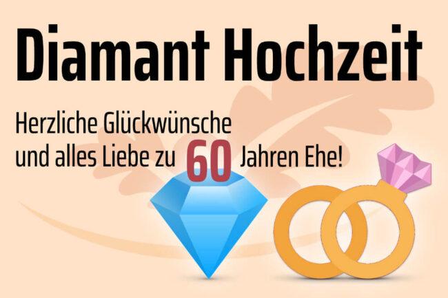 kostenlose vorlage glückwunschkarte diamantene hochzeit