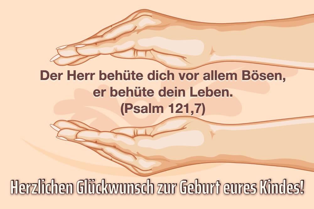 Glueckwunsch Geburt Der Herr Behuete Dich (1)
