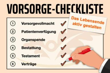 Vorsorge-Checkliste: Das Lebensende vorbereiten