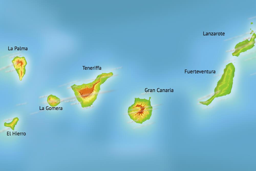 Kanarische-Inseln-Karte-Kanaren-Uebersicht