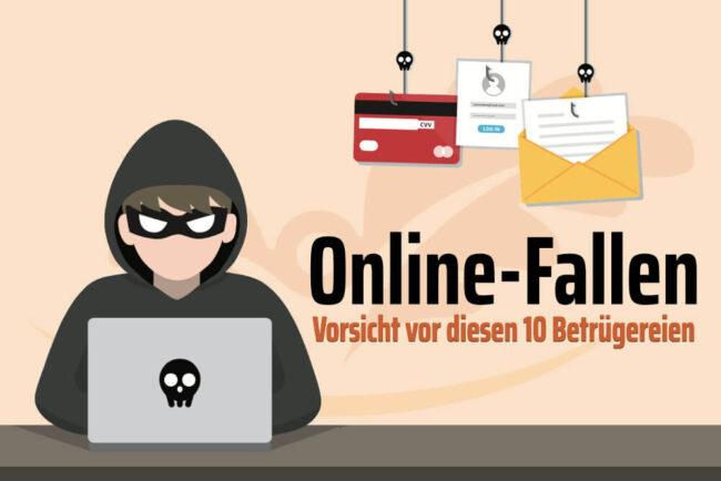 Online-Fallen: Vorsicht vor Betrugsmaschen