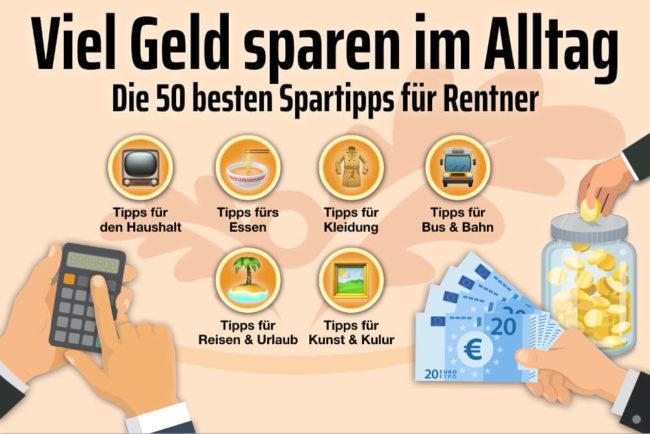 Geld sparen: 50 Tipps für Rentner für mehr Geld im Alltag