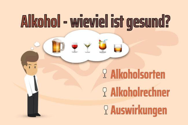 Alkohol: Auswirkungen, Abbau, Rechner