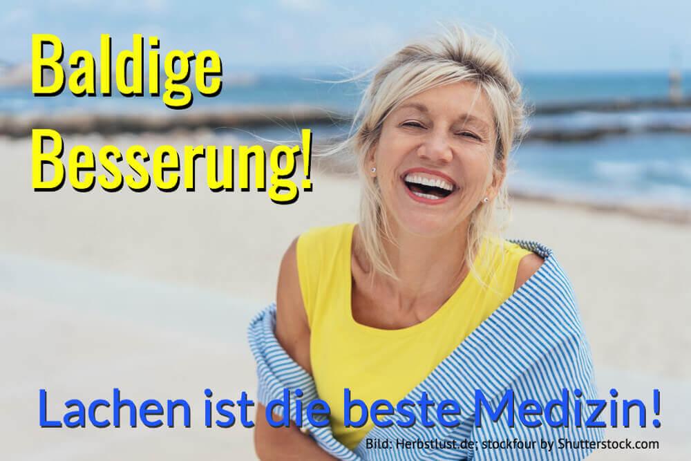 Genesungswunsch Lachen Medizin Gute Besserung