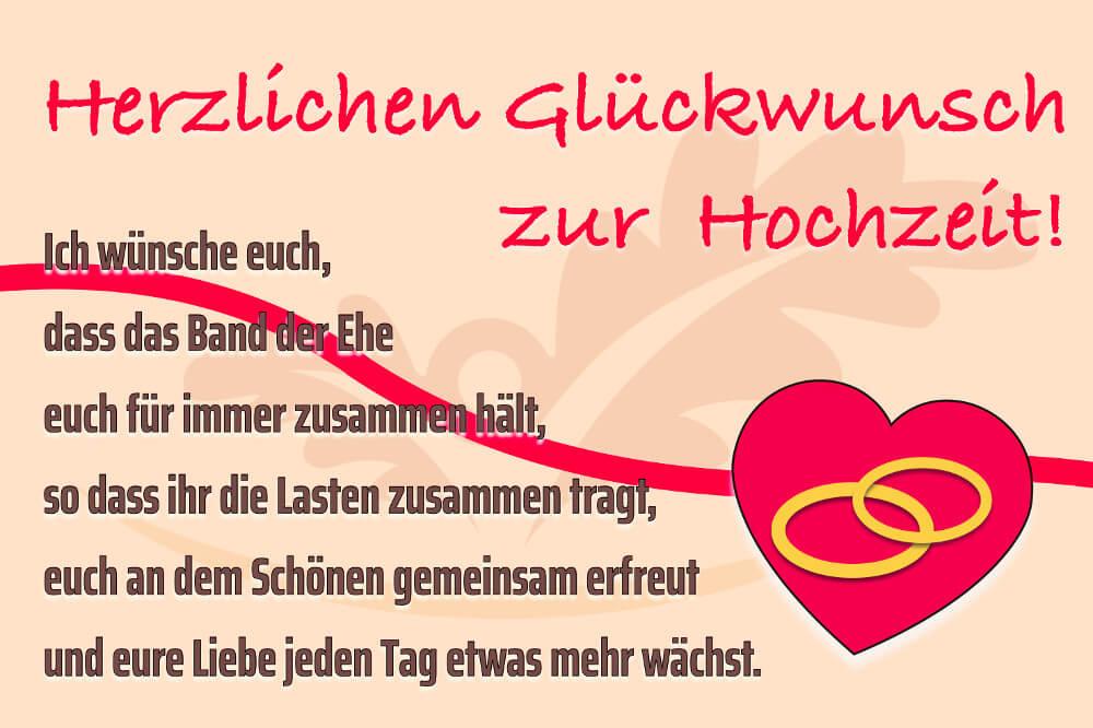 Hochzeitssprueche Band Der Ehe Karte Gaestebuch Wuensche