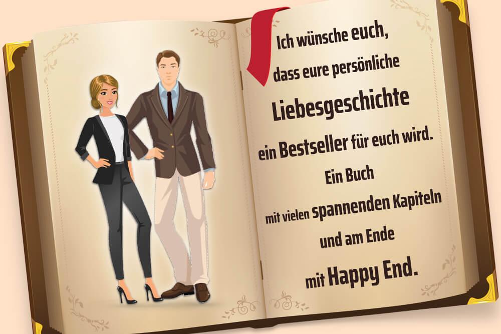 Hochzeitssprueche Karte Gaestebuch Bestseller Happy End