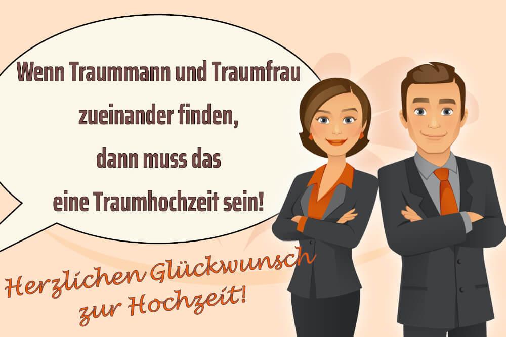 Hochzeitssprueche Traummann Traumfrau Traumhochzeit Karte Gaestebuch
